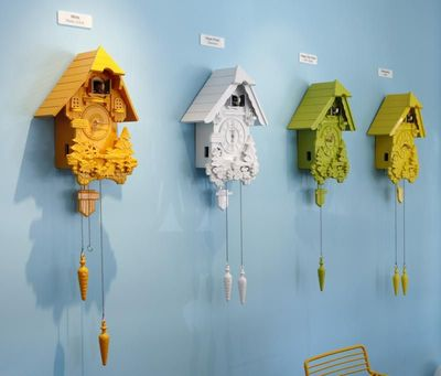 Birdhouse Art Display at the Good Hotel